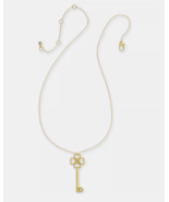 new KATE SPADE gold tone PAVE KEY PENDANT necklace Lock and Spade chain ... - $64.25