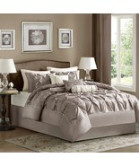 Madison Park Laurel 7 Piece Taupe Textured Comforter Set - Gifts for Yo... - $99.99+