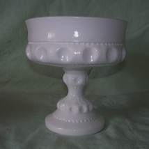 Indiana Milk Glass King's Crown Thumbprint Comp... - $12.00