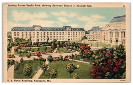 Mid-1900s Smoke Park and Bancroft Hall, US Naval Academy, Annapolis, MD ... - $5.48