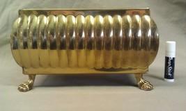 "8U47 Footed Brass Planter England 8"" x 5"" NICE ... - $29.00"