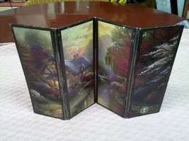 """7L40 Thomas Kinkade Folding/Divider Photo Frame """"A Quiet Evening"""" - $14.03"""