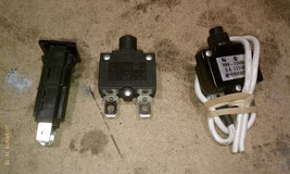 7 O67 3 Pack Circuit Breakers, 125 Vac Rated, 8, 15, 15 Amp, Very Good Condition - $13.10