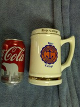 """7E59 Vtg Hope College Beer Stein MDCCCLXVI Made in USA 5 1/2"""" Tall IMMAC... - $24.00"""