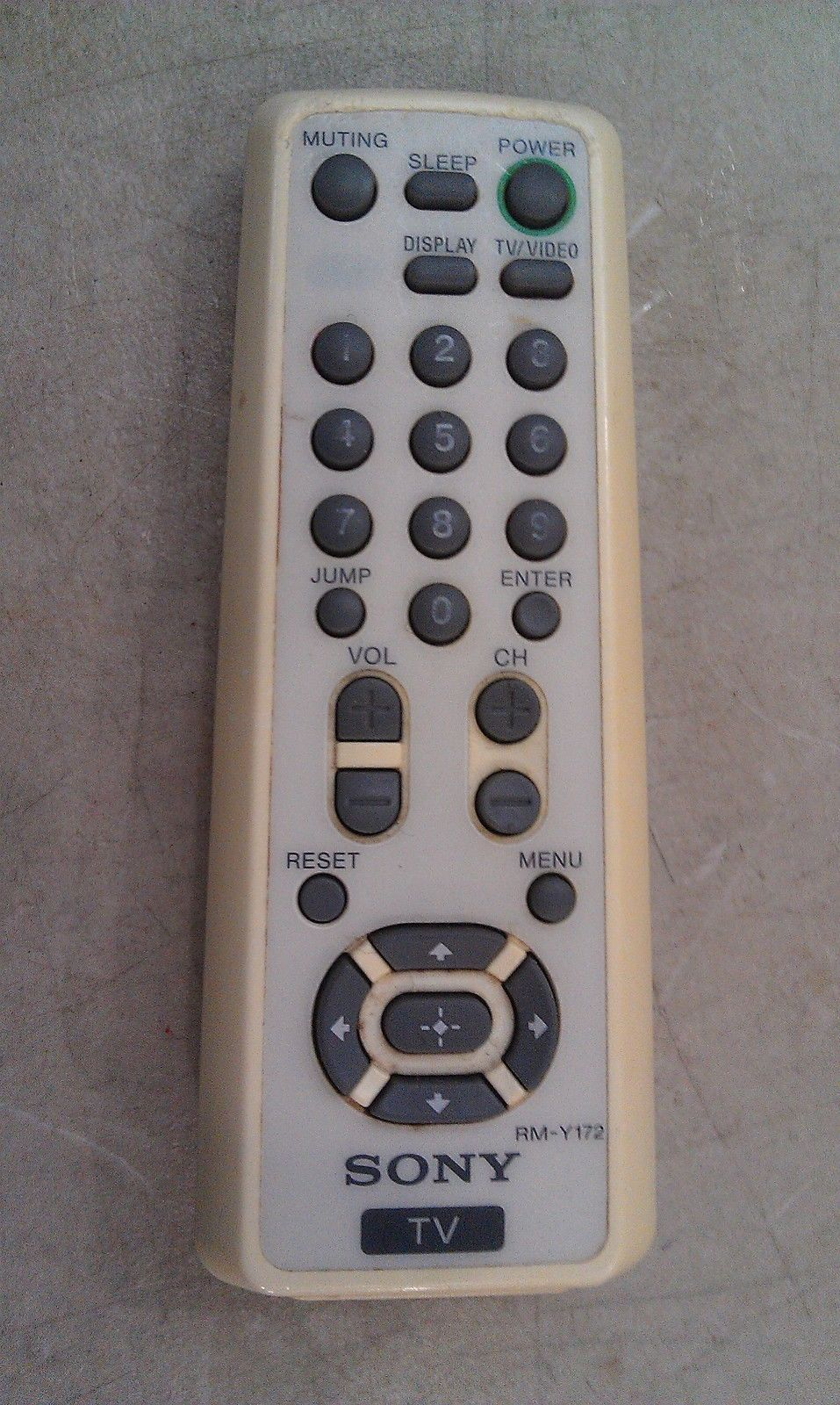 Primary image for 8T52 SONY RM-Y172 REMOTE CONTROL FOR TV, LOOSE BATTERY DOOR, FAIR CONDITION