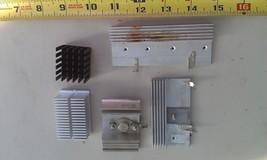 8 D97 5 Pcs Assorted Aluminum Heat Sinks, 7 1/2 Oz Of Metal, Good Condition - $13.10