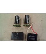 8O05 5 PACK CAPACITORS, 200V / 560MF (2) (UNTESTED), 250V / 4.5MF (4.86)... - $20.57