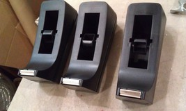 9B88 LOT OF 3 SCOTCH TAPE DISPENSERS, STANDARD C-38 STYLE, BLACK, 1# EAC... - $20.57