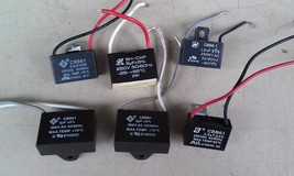 8G83 6 PACK CAPACITORS: 250V CLASS, TEST OK: (3) 2.5/2.12-2.60, (2) 3/3.... - $27.12