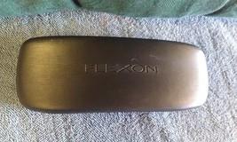 8C07 Flexon by Marchon Black Satin Finish Curved Hard Glasses Case VGC - $17.77