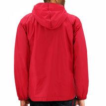 Men's Water Resistant Windbreaker Hooded Half Zip Pullover Rain Jacket image 6