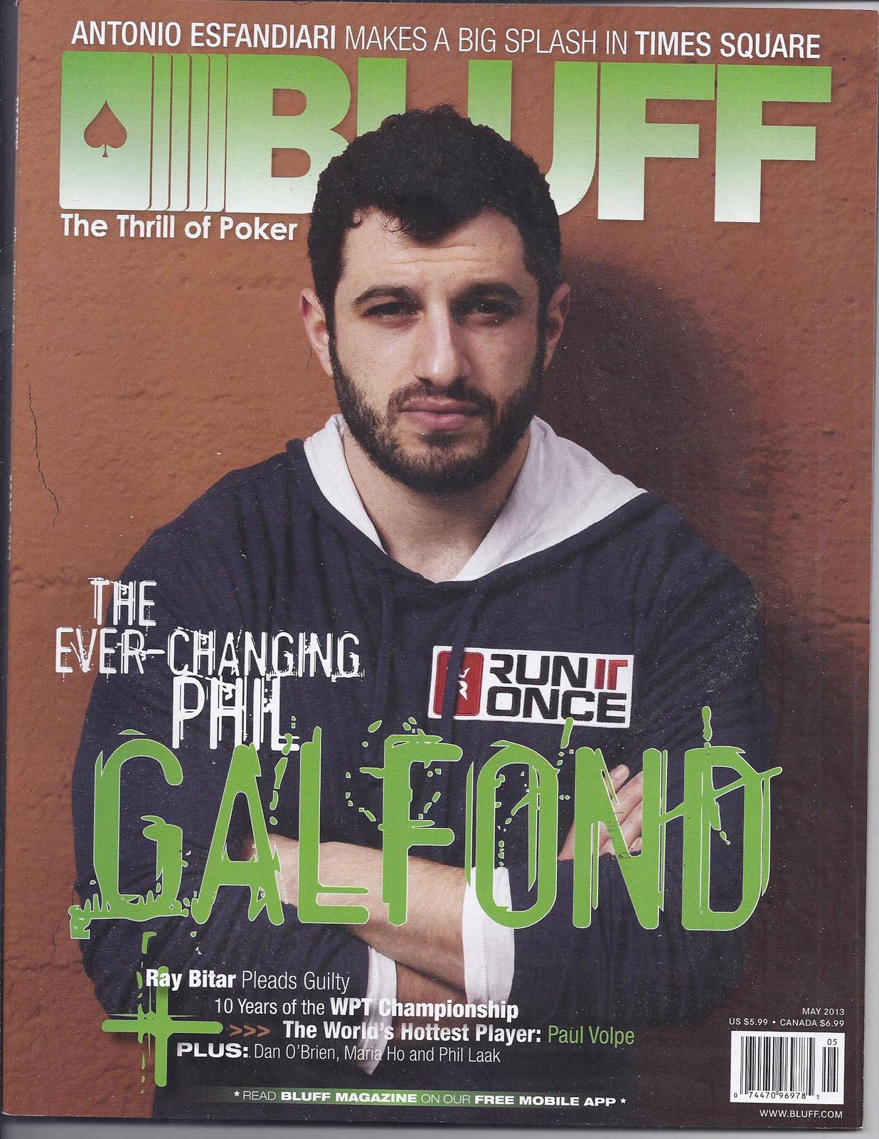 Primary image for PHIL GALFOND @ BLUFF Las Vegas Poker Magazine AUG 2013