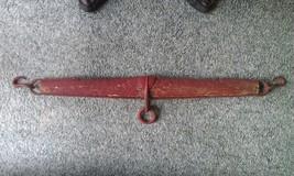 "8C97 Vtg 36 1/4"" Ox/Horse Farm Yoke Wood & Iron Bard Red Color - $69.78"