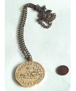 "Caesars Lake Tahoe Casino Large 2"" Gold Souvenir Coin Pendant Token 27"" ... - $14.11"