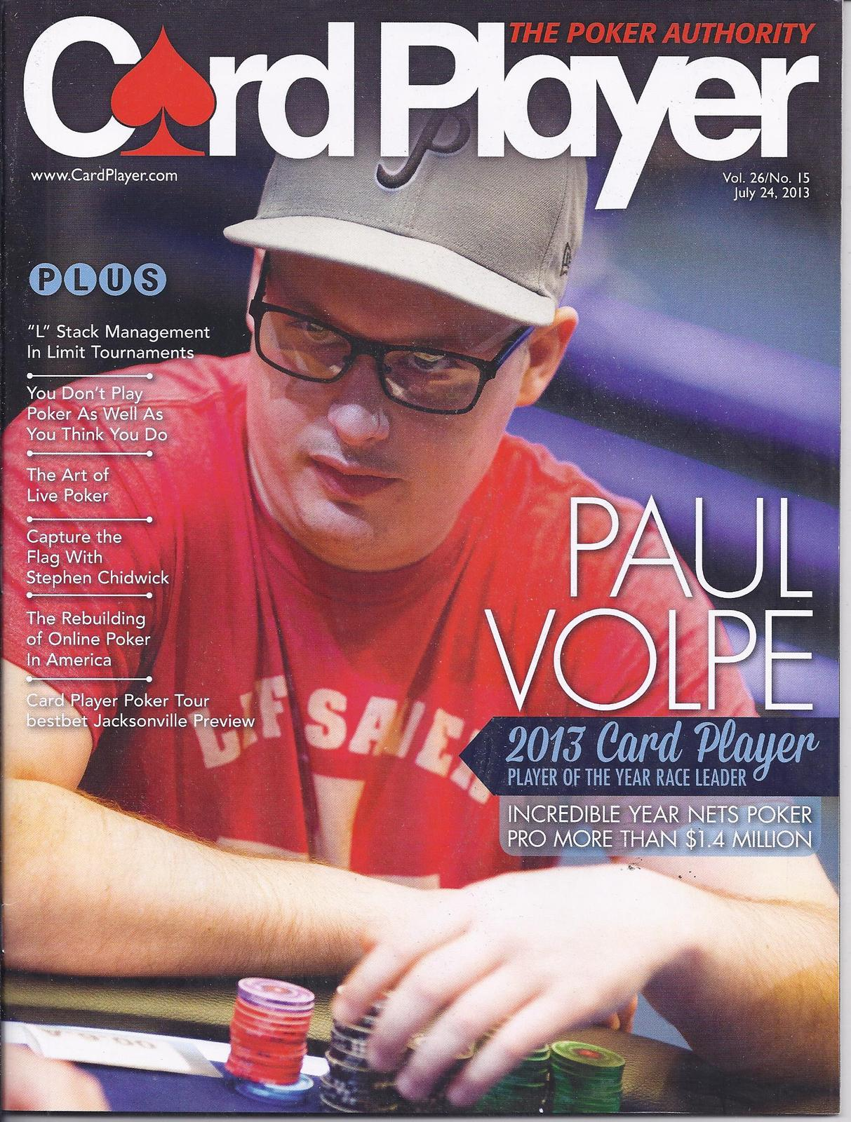 Primary image for PAUL VOLPE @ LAS VEGAS CARDPLAYER POKER JUL 2013