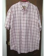Men's Graphite Pink Plaid Short Sleeve Shirt Size XL - $16.44