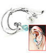Gothic Punk-Rock Temptation Small Snake Ear Wrap (left ear) Earring Jewe... - $10.00