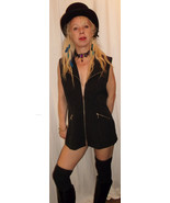 Vintage Chic/ UNISEX Steam Punk  Black, pinstripe fitted waistcoat with ... - $30.00
