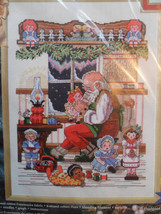 "Janlynn #15-207 Santa's Workshop Counted Cross Stitch Kit 10x14 1999"" New!! - $63.65"