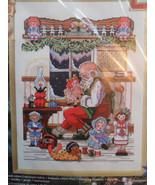 """Janlynn #15-207 Santa's Workshop Counted Cross Stitch Kit 10x14 1999"""" New!! - $63.65"""