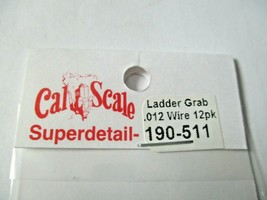 Cal Cal Scale # 190-511 Grab Iron Ladder .012, 12 Pieces HO Scale image 2