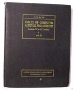 Tables of Computed Altitude and Azimuth: Latitudes 20o-29o Pub. No. 214 ... - $19.62