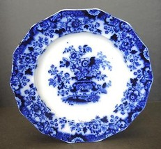 Antique Flow Blue Dinner Plate - Indian Stone - $18.99