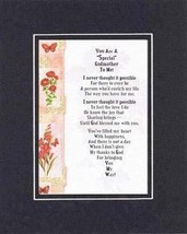 Touching and Heartfelt Poem for Mothers - You Are a Special Godmother to Me Poem - $15.79