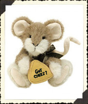"Boyds Bears ""Swiss C. Mouski"" 6"" Plush Mouse- #91670 - NWT- 2001 -Retired - $19.99"