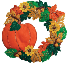 Bucilla 'Fall Wreath',  Felt Applique Kit- 86831  - $35.99