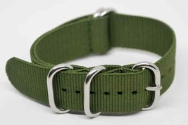 Watch Strap Zulu Nato Army Green Nylon Textile PVD 20mm Strap Heavy Duty - $9.85