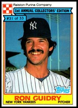 1984 Topps Ralston Purina #31 Ron Guidry NM-MT New York Yankees  - $2.50