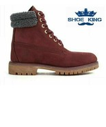 "Timberland Men's Premium 6"" Inch Waterproof Burgundy Leather Boots A1ZK8 - $104.99"
