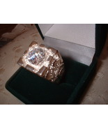 Mens Sterling Silver Russian CZ Nugget Ring - $40.00