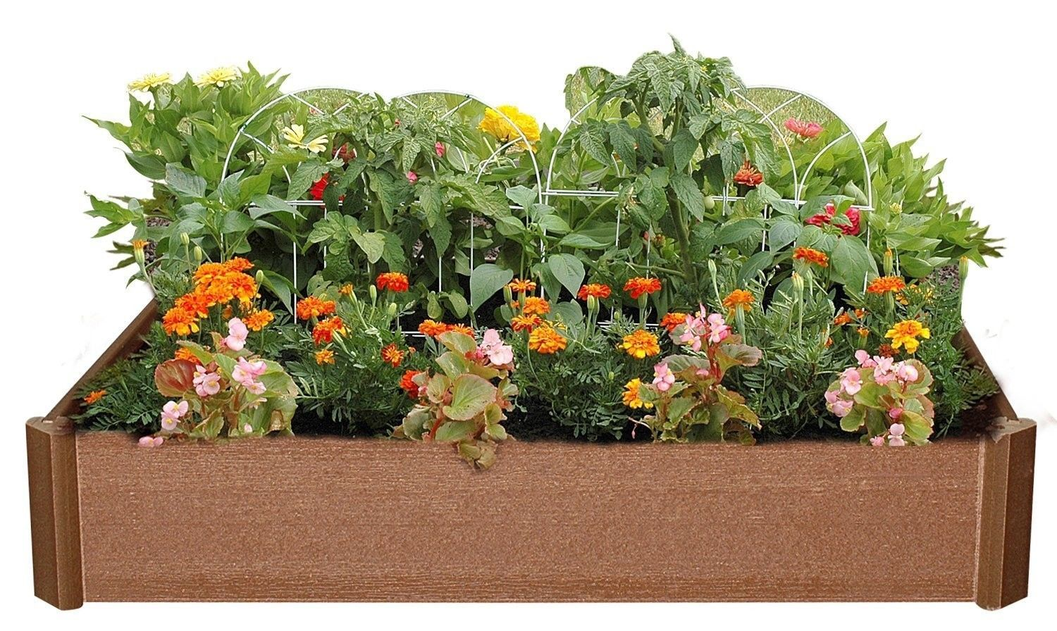 42-inch x 42-inch x 6-inch High Raised Garden Bed Planter Box Kit Stackable Deco