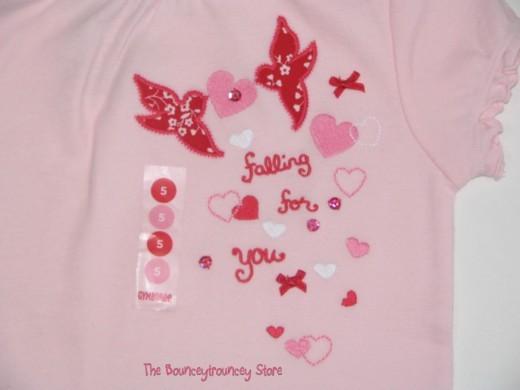NWT Gymboree Valentine's Day Pink Heart Shirt Sz 5