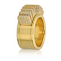 Cartier 18K Yellow Gold Diamond Fan Pallets Ring - $18,525.00