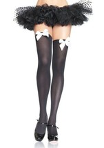 6255 (Black/White bows) Thigh High w Bows - $8.48