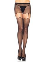 LA9943 Micro Net Suspender Pantyhose - $259,27 MXN