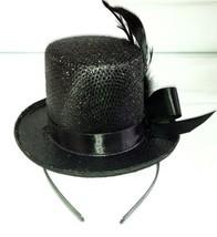 24610 (Black) Mini Glitter Top Hat - $10.88
