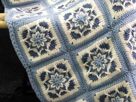 PDF Crochet Pattern AMAZING STAR AFGHANS Very Unique! 4 Different STAR M... - $4.99