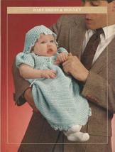 Baby Christening Dress & Bonnet Crochet Pattern - $4.99