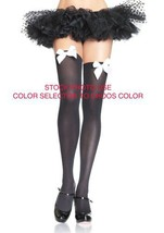 6255 (White/White Bows) Thigh High w Bows - $8.48