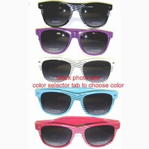 SG7787STR/63 (Purple/Black stripe) Wayfarer Stripe Retro [Eyewear] - $7.88