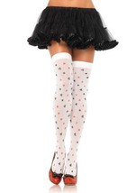 LA6274 Card Symbol Thigh Highs - $8.88