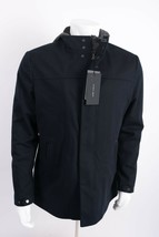 Zara Man Mens Jacket Coat Blazer Removeable Interior Navy Blue Gray Hood... - $159.99
