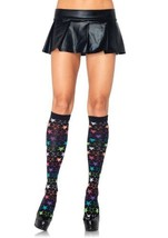 LA5206 Rainbow Star Acrylic Knee Socks - $9.88
