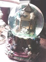 RARE San Francisco Music Box Co. Kitty Glitter Globe - Plays You've Got ... - $64.35