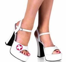 10 (8, White) Nurse White Patent Platforms [Apparel] - $20.88