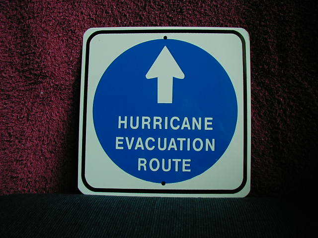 MINI MINIATURE HURRICANE TRAFFIC SIGNS METAL 8""